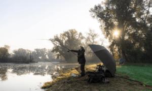 Autumn Carp Fishing Tips - Carp Fisherman in Bivvy