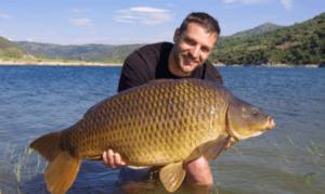 What is Specimen Carp Fishing - Man holding specimen carp