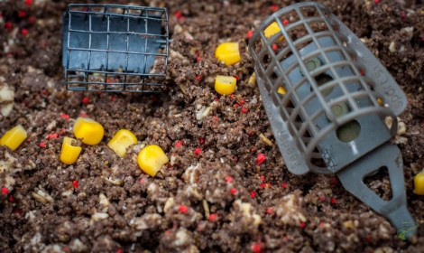carp-fishing-with-groundbait-feeders-in-groundbait