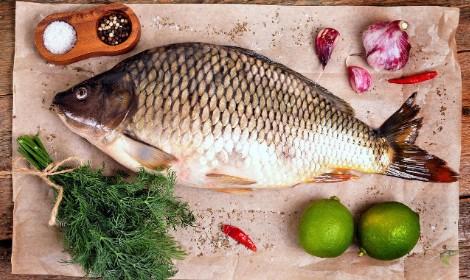 can-you-eat-carp-carp-on-chopping-board